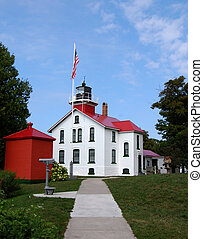 Grand Traverse Lighthouse vertical