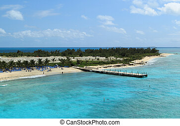 Grand Turk and Caicos Islands - view at pier of turk and ...
