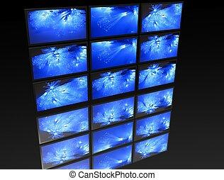 grand, tv?s, panneau