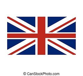 grand, union, grande-bretagne, drapeau, cric, icône