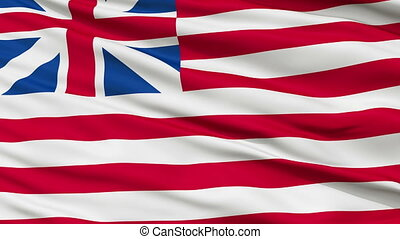 Grand Union USA Close Up Waving Flag