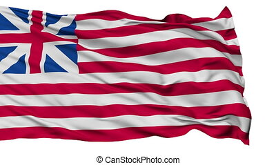 Grand Union USA Isolated Waving Flag