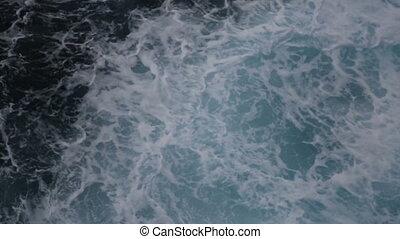 grand, vagues océan