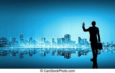 grand, vie, ville