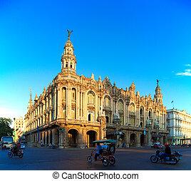 grand, vieille ville, théâtre, cuba, havane