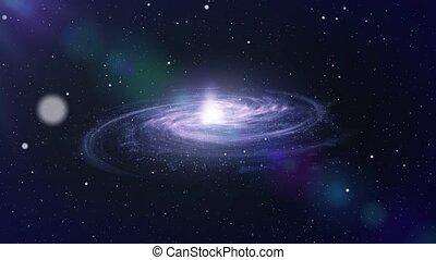 grand, voyage, galaxie, espace
