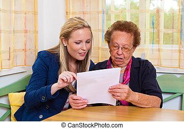 grandchild and grandmother. contract, will - a grandchild...