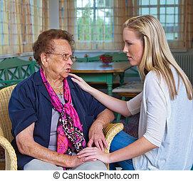 grandchildren visited grandmother - a grandson to visit his...