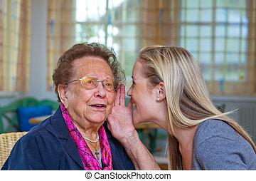 grandchildren visited grandmother
