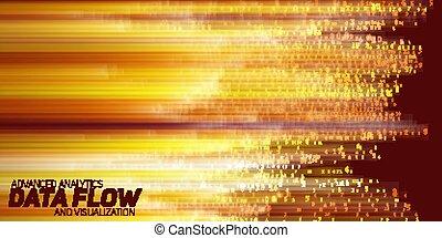 grande, abstratos, vetorial, dados, visualization.
