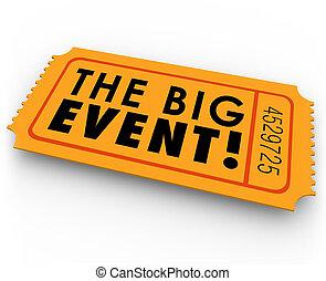 grande, accesso, passare, biglietto, evento, speciale