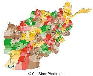 grande, afeganistão, mapa