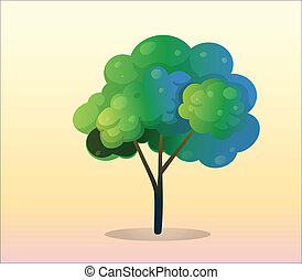 grande, albero verde