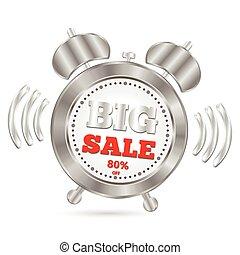 grande, allarme, vendita, orologio