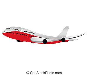 grande, avião passageiro