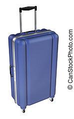 grande, bagaglio, isolato, bianco, fondo.