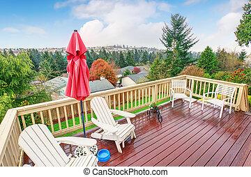 Vista legno naturale lago balcone bello ponte lake for Disegni ponte veranda