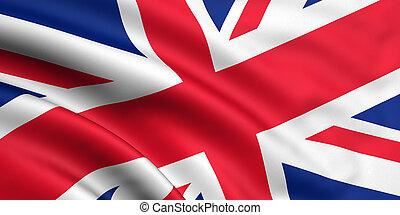 grande, bandiera, gran bretagna