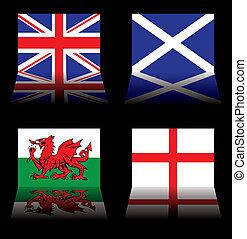 grande, bandiere, gran bretagna