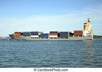 grande, barco, contenedor