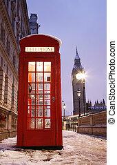 grande,  Ben, telefone, Londres, barraca