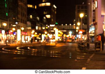 grande, berlim, luzes cidade