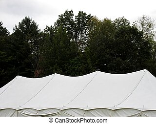 grande, bianco, tenda