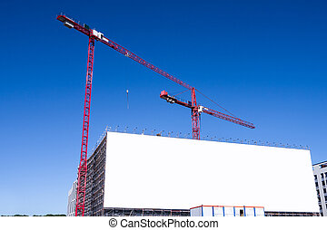 grande, billboard, e, local construção