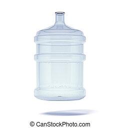 grande, botella de agua, para, entrega