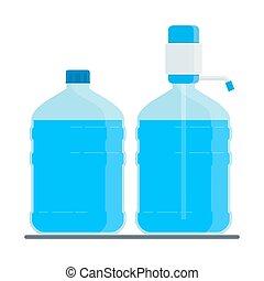 grande, bottiglia acqua