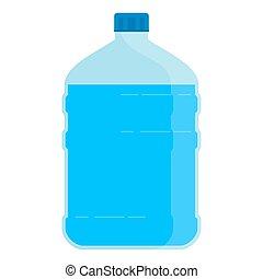 grande, bottiglia, per, acqua