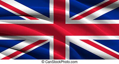 grande-bretagne, drapeau, grand