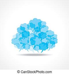 grande, burbujas, hecho, burbuja del discurso