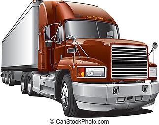 grande, camion consegna