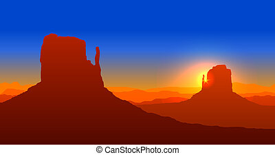 grande canyon, tramonto