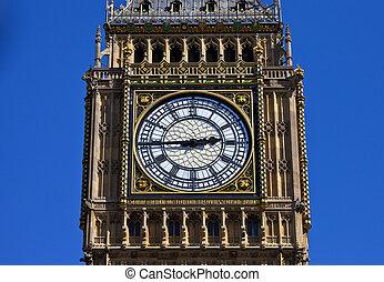 grande, cara, ben, londres, reloj