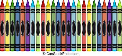 grande, carboncillos, grupo, colorido