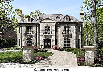 grande, casa, lusso
