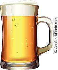 grande, cerveja, quartilho