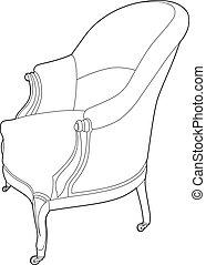 grande chaise, dessin