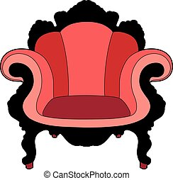 grande chaise, rouges