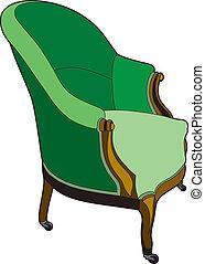 grande chaise, vert