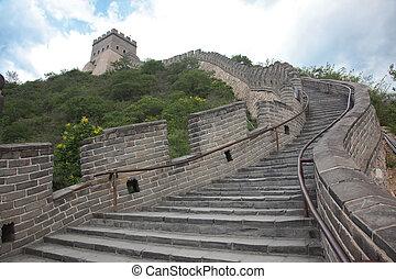 grande, china, pared, beijing