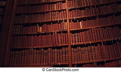 grande, colección, de, viejo, uncognizable, books., 4k,...