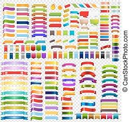 grande, colorare, nastri, set