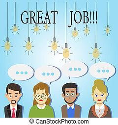 grande, conceito, palavra, negócio, texto, trabalho, poço, resultados, escrita, bom, feito, excelente, job., compliment.