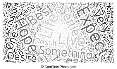 grande, conceito, palavra, texto, expectations, fundo, nuvem
