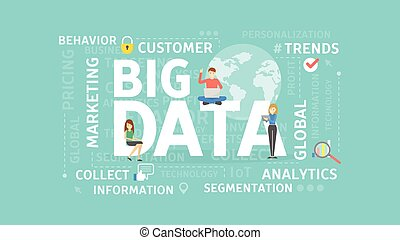grande, concept., datos