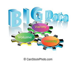 grande, concepto, datos