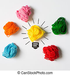 grande, concepto, idea